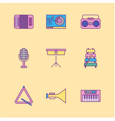 Icon set classical music vector