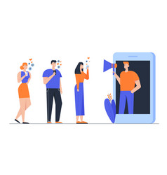 Influencer marketing social media or network vector