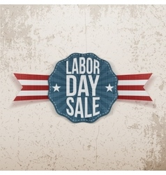 Labor Day Sale paper Tag vector