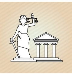 Law and Justice building design vector