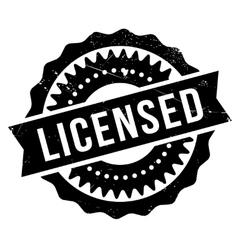 Licensed stamp rubber grunge vector image