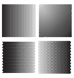 Line gradient effects vector