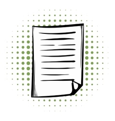 Lined paper comics icon vector