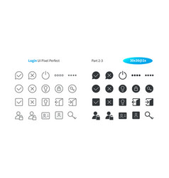 login ui pixel perfect well-crafted thin vector image