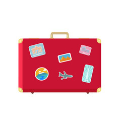 luggage for long traveling and journey vector image