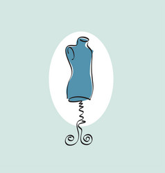 mannequin stand male tailor icon vector image