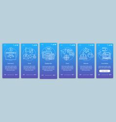 Marketing channels blue gradient onboarding vector