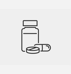 medical icons pills and capsules icon medicine vector image