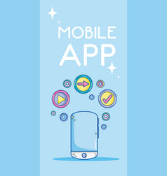 Mobile app technology vector