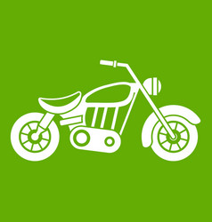 motorcycle icon green vector image
