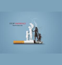 no smoking and world no tobacco day vector image