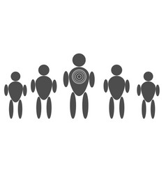 personal target consumer markeitng on white vector image