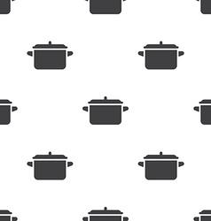 Pot seamless pattern vector