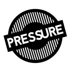 Pressure typographic stamp vector