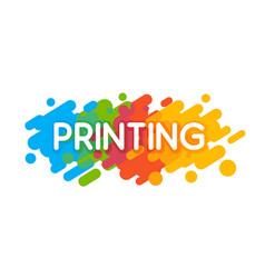 printing studio logo vector image