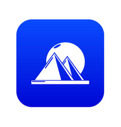 Pyramid egypt icon blue vector