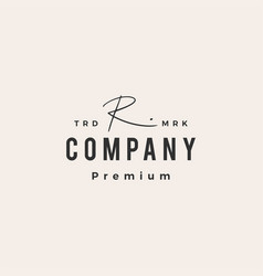 R letter mark signature hipster vintage logo icon vector