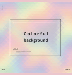 Rainbow holographic background vector