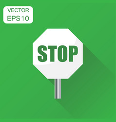 red stop sign icon business concept danger symbol vector image