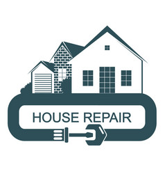 repair and construction of a house vector image