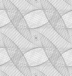Repeating black and white curved grid pattern vector