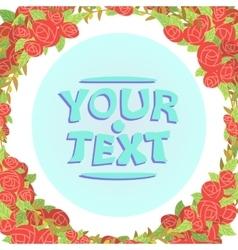 roses frame cartoon vector image