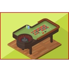 Roulette table isometric flat vector