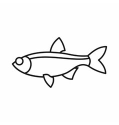 Rudd fish icon outline style vector image