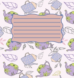 School notebook cover postcard invitation template vector