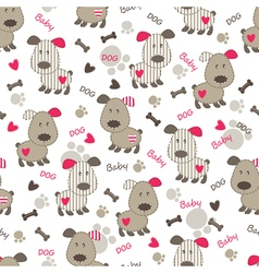 Seamless pattern with dog 3 vector