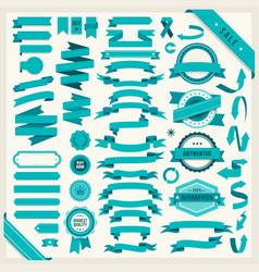 set 58 ribbons vector image