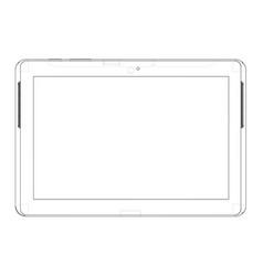 Sketch tablet pc vector