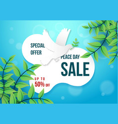 special offer peace day graphic element with vector image