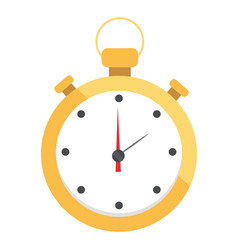 stopwatch isolated cartoon vector image