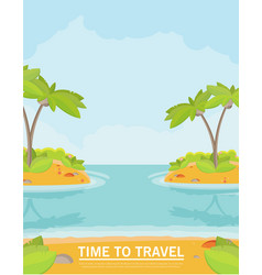 summer vacation holiday tropical ocean islands vector image