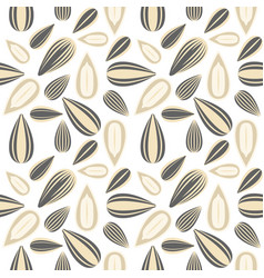 Sunflower seed seamless pattern for wallpaper or vector