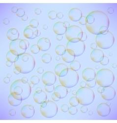 Transparent Colorful Foam Bubbles vector