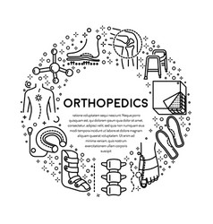 trauma or injury rehabilitation orthopedics line vector image