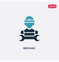 two color mechanic icon from professions jobs vector image