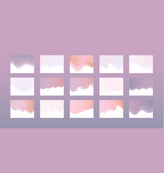 website header design set in trendy pastel colors vector image