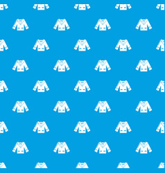 wedding groom suit pattern seamless blue vector image