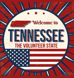 welcome to tennessee vintage grunge poster vector image