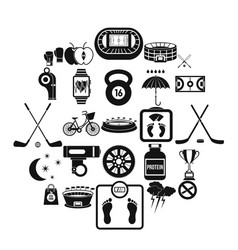 wheeling icons set simple style vector image