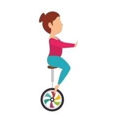 Woman juggler cartoon vector