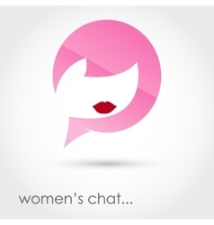 Womens chat vector
