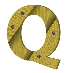 Wood letter Q vector