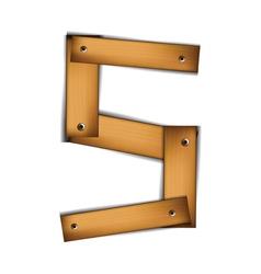 Wooden type s vector