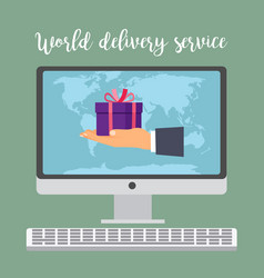 world delivery service concept vector image