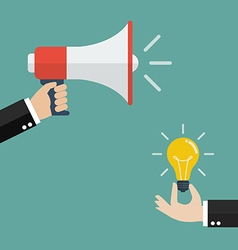 Announcement for idea vector image vector image