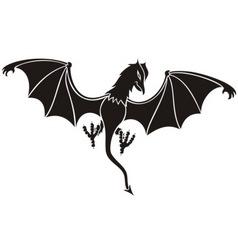 black daemon vector image vector image